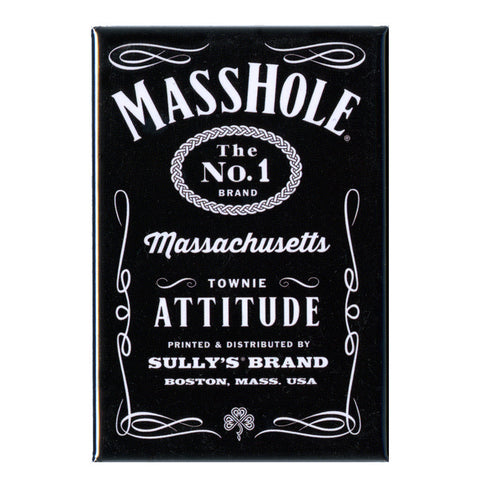 Masshole - Black and White 3x2 Magnet
