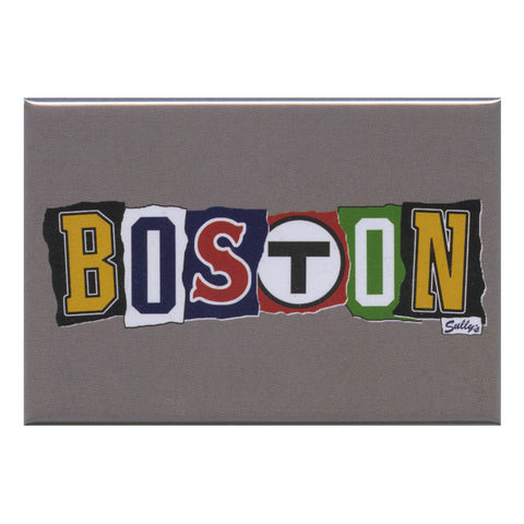 BOSTON - Ransom Note 3x2 Magnet