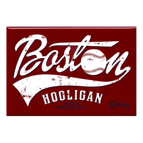 "Boston Hooligan Baseball 2x3"" Magnet"