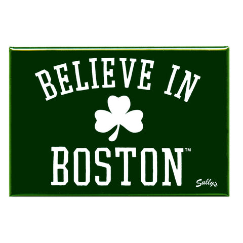 "Believe in Boston - Classic Shamrock 2x3"" Magnet"