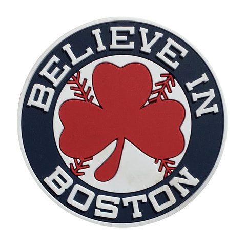 Believe In Boston™ Red Shamrock Magnet