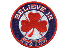 Believe in Boston - Red Shamrock Patch