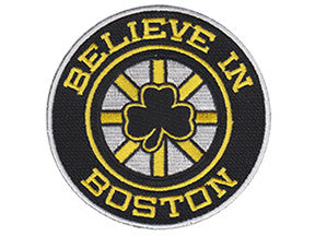 Believe in Boston - Black Shamrock Patch