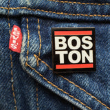 Boston Red Bar Enamel Pin