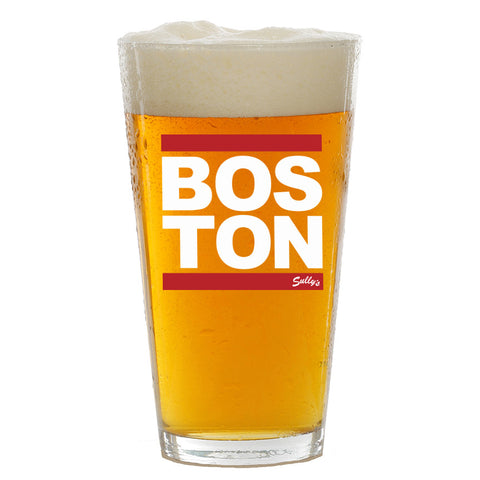 BOSTON Red Bar Pint Glass