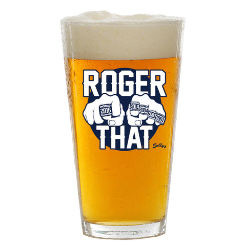 Roger That Pint Glass