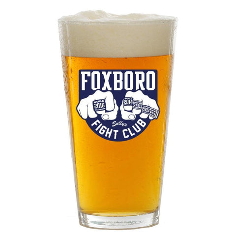 Foxboro Fight Club Pint Glass