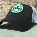 Believe in Boston Green Shamrock Mesh Trucker Hat
