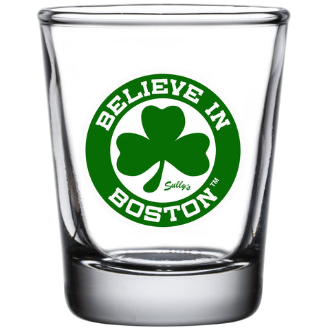 Believe in Boston - Green Shamrock  - Shot Glass
