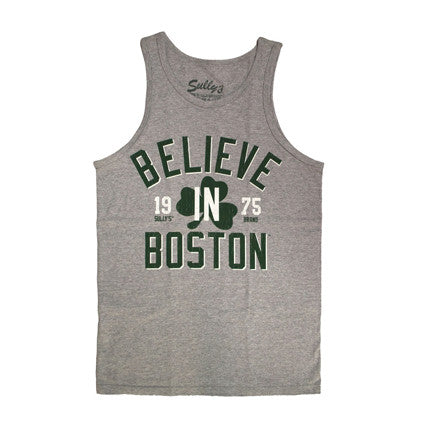 Believe in Boston Athletic Gray Tank Top (Unisex)