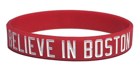 Believe in Boston - Red & White Bracelet