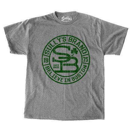 Sully's Brand Believe in Boston - Gray & Forest Green T-Shirt