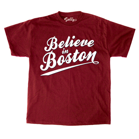 Believe in Boston - Cardinal Script T-Shirt