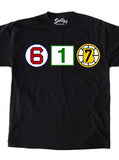 617 Retired Numbers - Black T-Shirt