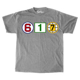 617 Retired Numbers - Gray T-Shirt