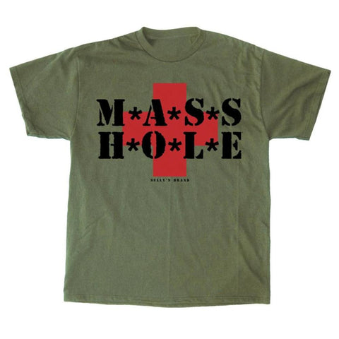 MASSHOLE® Army Green T-Shirt