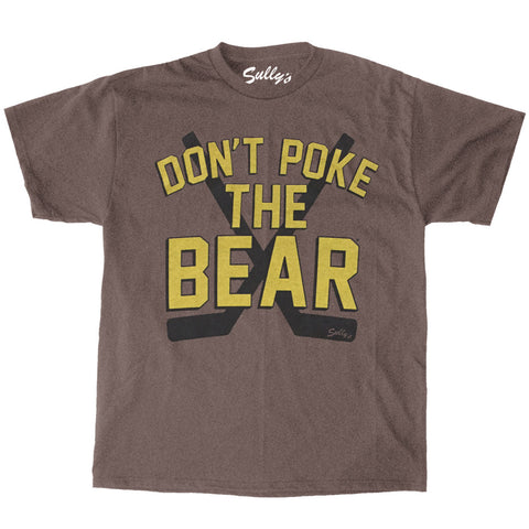 DON'T POKE THE BEAR Retro Brown T-Shirt