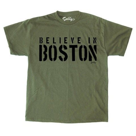 Believe In Boston - Stencil - T-Shirt
