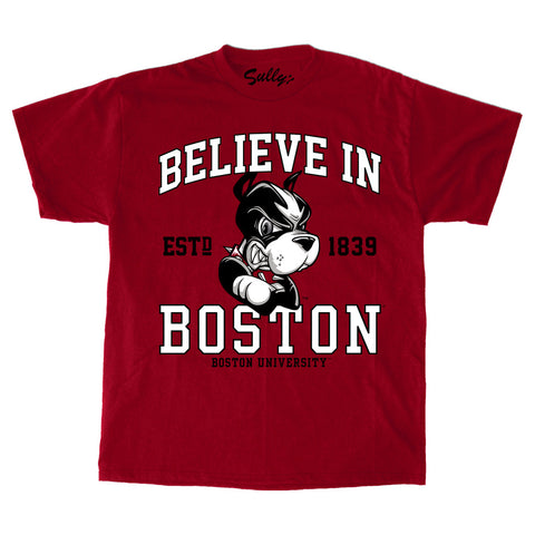 Believe In Boston - Boston University - Red T-Shirt