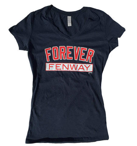 Forever Fenway - Women's V Neck (Navy Blue)