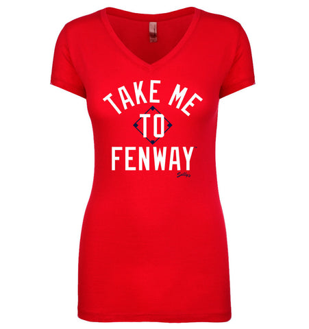 Take Me To Fenway Women's V Neck Shirt