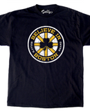 Believe in Boston - Black Shamrock T-Shirt