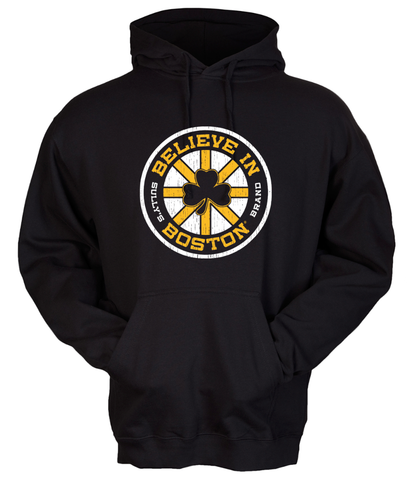 Believe In Boston - Black Shamrock - Sweatshirt