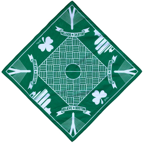 Boston Basketball Bandana