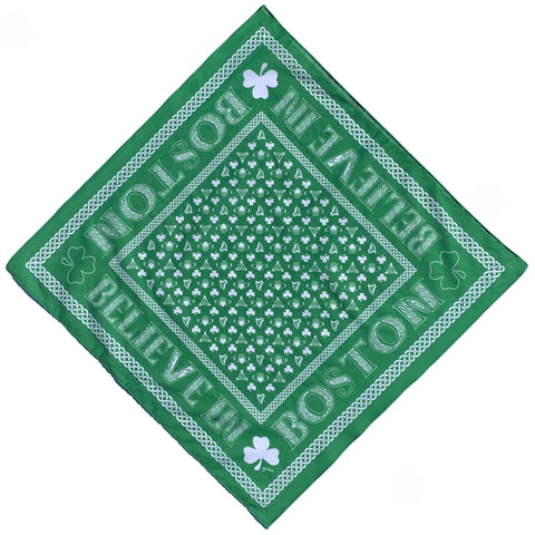 Believe In Boston Shamrock Bandana
