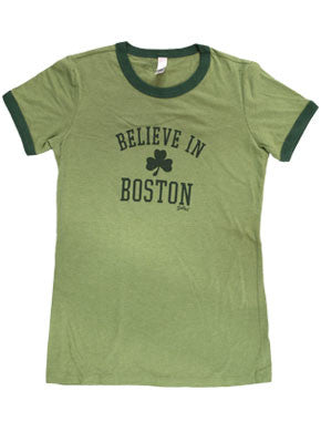 Believe in Boston Rringer - Women's Tee