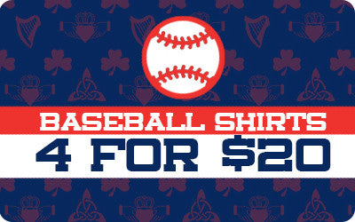 4 For $20 Baseball Shirts