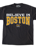 Believe in Boston - Black and Gold The Town T-Shirt