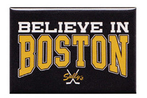 Believe in Boston - Black & Gold Magnet