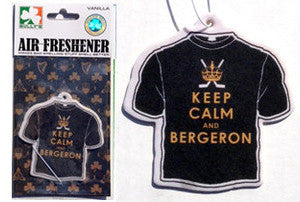 Keep Calm and Bergeron Air Freshener