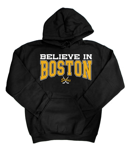 Believe in Boston - Black & Gold Sweatshirt