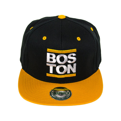 Boston - Gold Snapback Hat