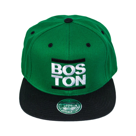 Boston - Green Bar Snapback Hat