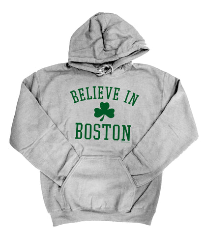 Believe in Boston - Athletic Gray Sweatshirt
