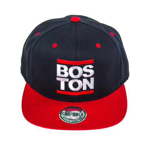 Boston - Red Bar Snapback Hat