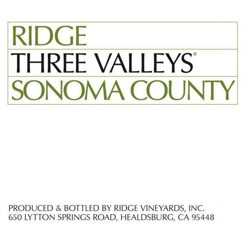 Ridge Three Valley Red Wine