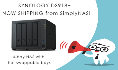 Synology DS918+ NAS with hot-swap drive bays has arrived