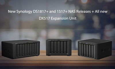 Synology Launches NAS DiskStation DS1517+ and DS1817+ and DX517 Expansion Unit