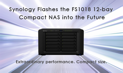 Synology Flashes the FS1018 12-bay Compact NAS into the Future