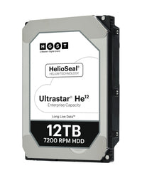 12TB – HGST/WD 12000GB 256MB 7200RPM SATA ULTRA 512E SE HUH721212ALE604 3.5in 26.1MM, {$sku}, Enterprise Helium