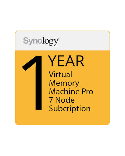 Synology Virtual Machine Manager Pro License (7 Nodes, 1-Year License), {$sku}, License