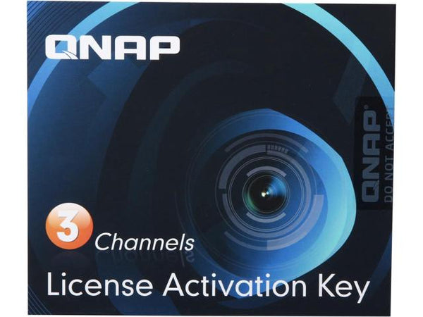 3 Camera License Activation Key for Surveillance Station Pro for QNAP NAS -  LIC-CAM-NAS-3CH
