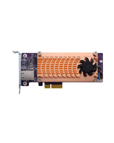 QNAP QM2-2S10G1T Dual M.2 2280 SATA SSD & single-port 10GbE expansion card, {$sku}, Peripheral - Expansion Cards
