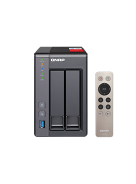 QNAP TS-251+ 4GB 2-bay NAS 8TB (2 x 4TB) integrated with Seagate Constellation (Enterprise)