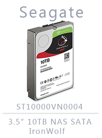 10TB - (2x) Seagate Enterprise IRONWOLF SATA ST10000VN0004