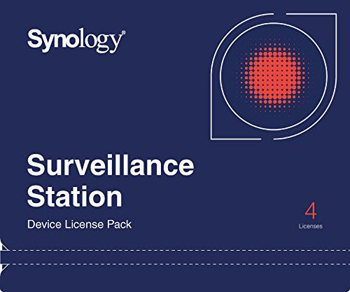 Synology CLP4 Camera License Pack - 1 code to connect up to 4 IP cameras, {$sku}, SYN-CLP4